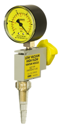 Venturi Nozzle - Low Vacuum with Gauge