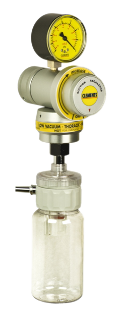 Very Low Vacuum / High Flow Thoracic Regulator